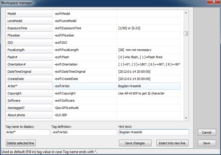 ExifTool GUI for Windows screenshot